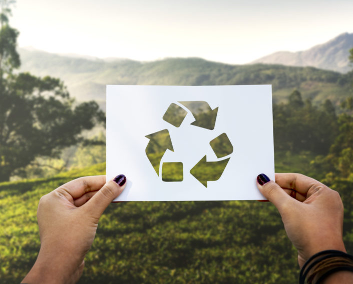 Save the world ecology environmental conservation perforated paper recycle sostenibles